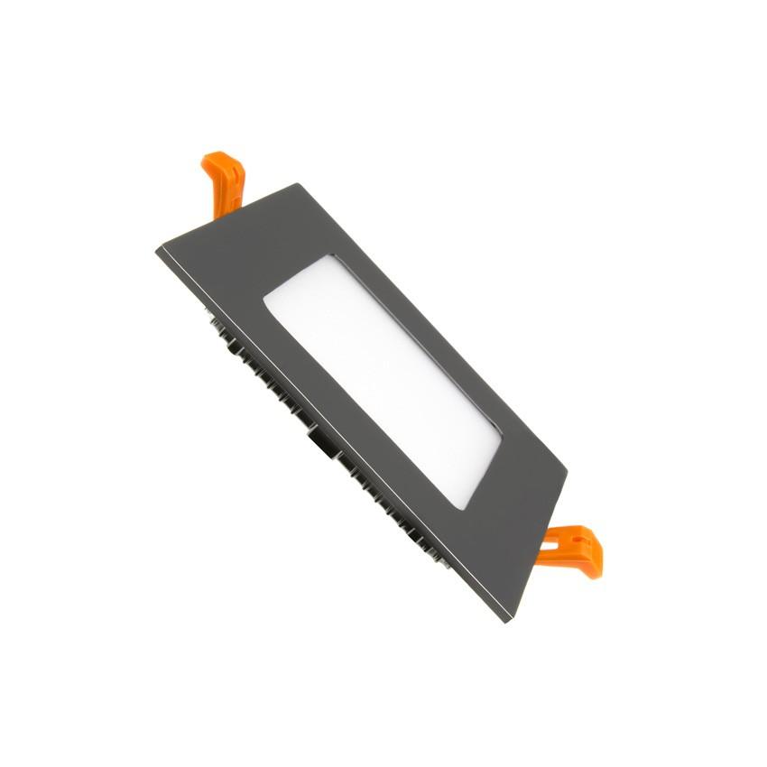 LED-Deckeneinbauleuchte Eckig SuperSlim 6W Schwarzer Rahmen - Ledkia ...