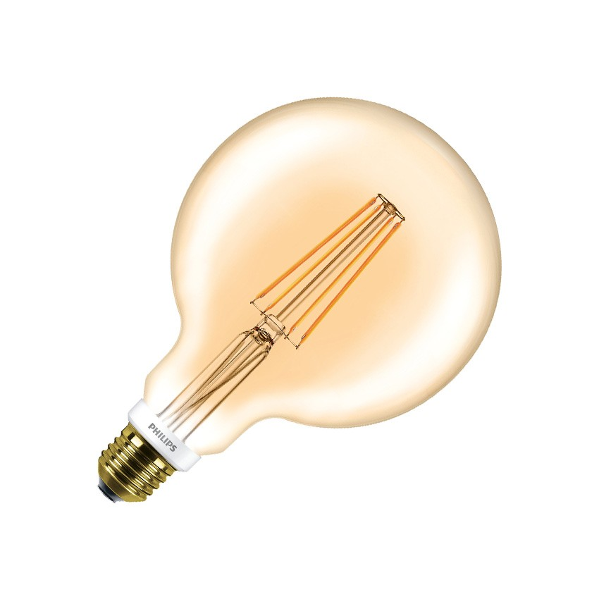 led lampe e27 g120 philips dimmbar filament globe cla 7w gold ledkia deutschland. Black Bedroom Furniture Sets. Home Design Ideas