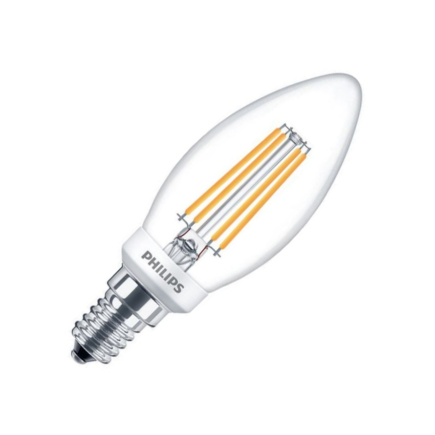 LED Lampe E14 Dimmbar Filament Philips Candle CLA B35 5W - Ledkia ...