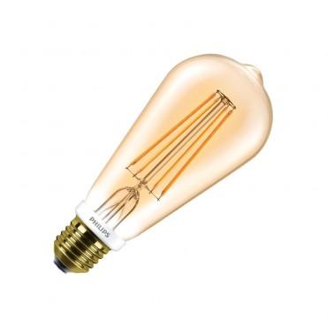 Extraordinaire LED Lampe E27 Dimmbar Filament Philips CLA ST64 8W Gold - LEDKIA OY-16