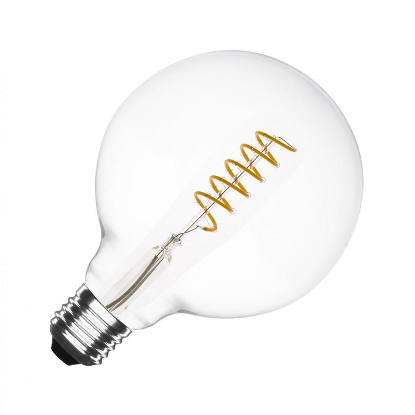 led lampe e27 filament spirale supremme g125 4w ledkia deutschland. Black Bedroom Furniture Sets. Home Design Ideas