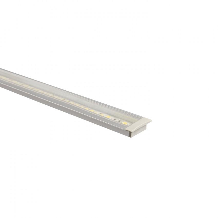 Aluminiumprofil Einbau mit durchgehender Abdeckung für LED-Streifen