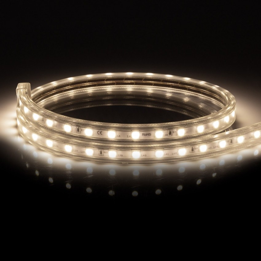 LED-Streifen Dimmbar 220V AC 60 LED/m Neutrales Weiss IP65 nach Mass Schnitt jede 100cm