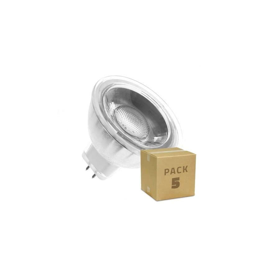5er Pack Led Lampen Gu5 3 Mr16 Cob Glas 12v 45º 5w Ledkia