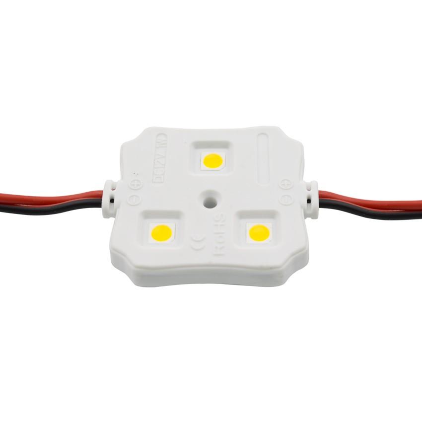 Chaîne de 20 Modules Carrés de 3 LEDs SMD5050 12V 0.72W