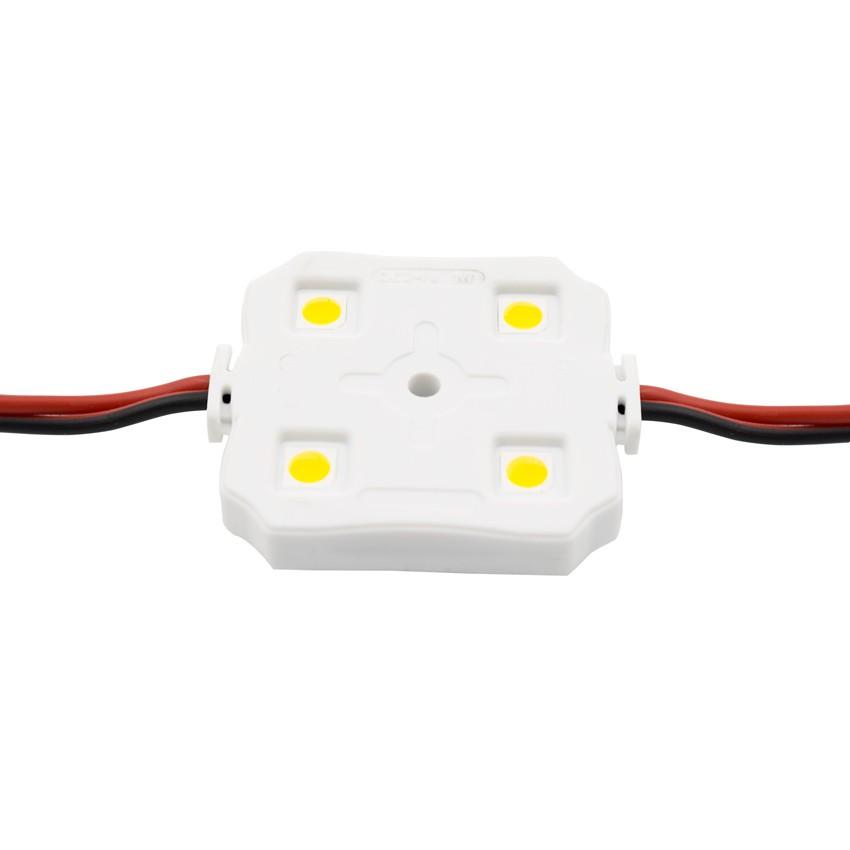 Chaîne de 20 Modules Carrés de 4 LEDs SMD5050 12V 1W