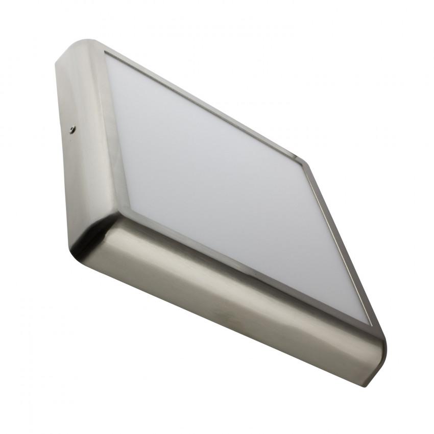 Plafonnier LED Carré Design 24W Silver