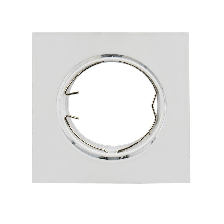 support spot carr orientable pour ampoule gu10 gu5 3 ledkia france. Black Bedroom Furniture Sets. Home Design Ideas