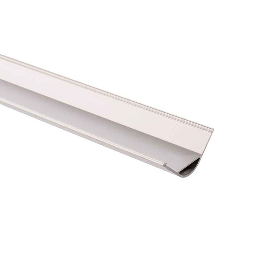 Profilé Aluminium Arrondi d'Angle 1m pour Ruban LED