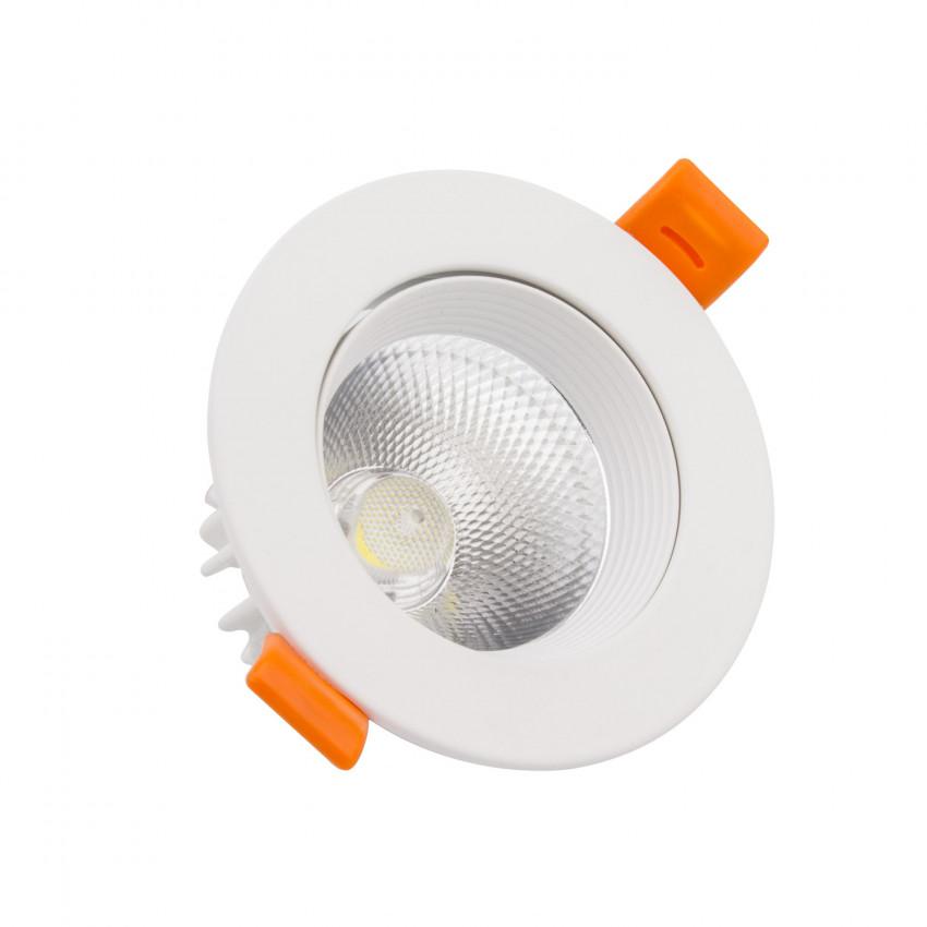 Spot Downlight LED COB Orientable Rond (UGR19) 15W Blanc Coupe Ø 110 mm