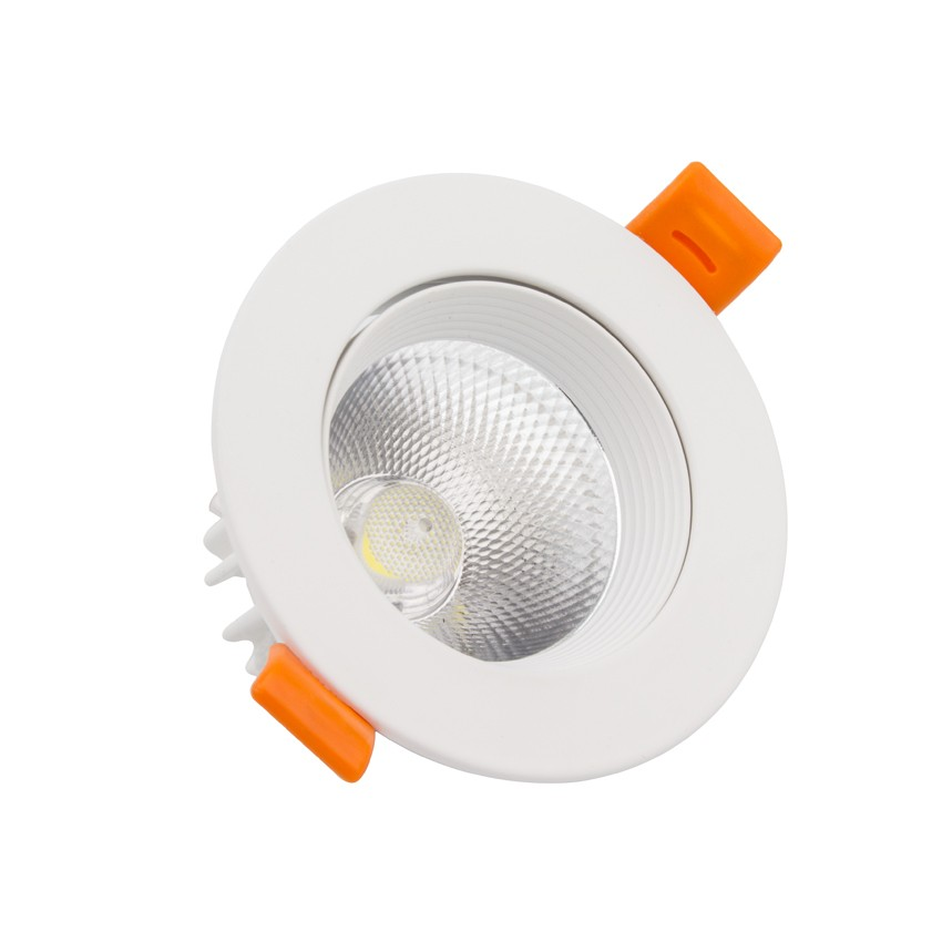 spot led downlight cob orientable rond 7w blanc ledkia france. Black Bedroom Furniture Sets. Home Design Ideas