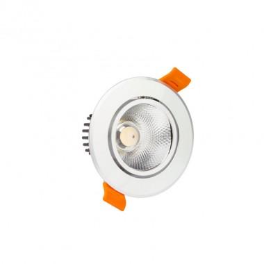Spot LED Downlight COB Orientable Rond 5W Argenté