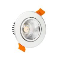Spot LED Downlight COB Orientable Rond 18W Argenté