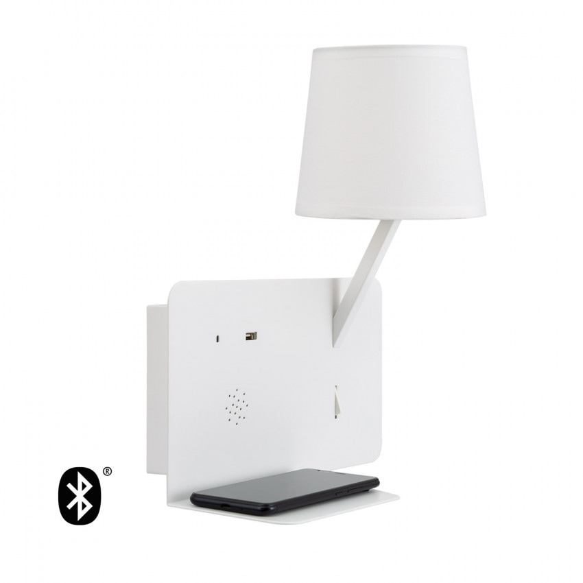 Lampe Murale LED Bohr avec Haut-Parleur Bluetooth et Reproducteur USB