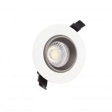 Foco LED Downlight Circular COB 7W Blanco y Negro