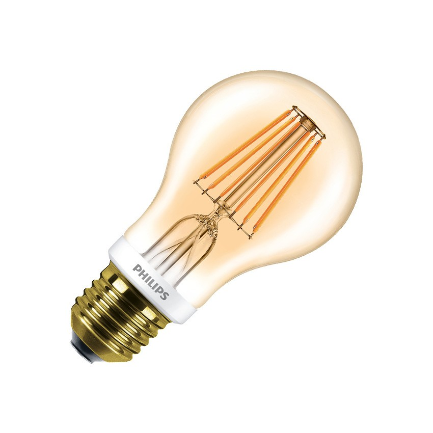 ampoule led e27 a60 philips dimmable filament cla 7 5w gold ledkia france. Black Bedroom Furniture Sets. Home Design Ideas