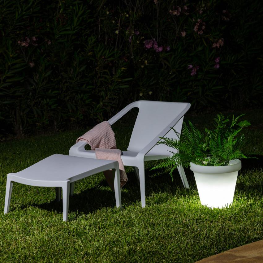 Jardinière LED RGBW 35cm Rechargeable
