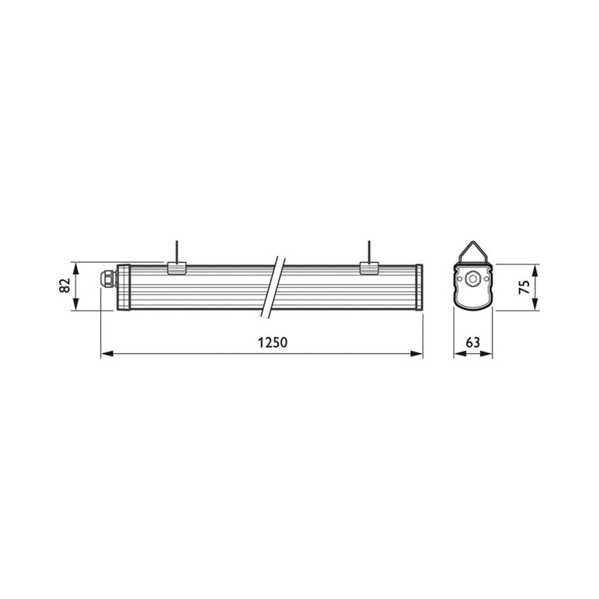 R glette tanche led philips ledinaire waterproof 1200mm - Reglette led etanche ...