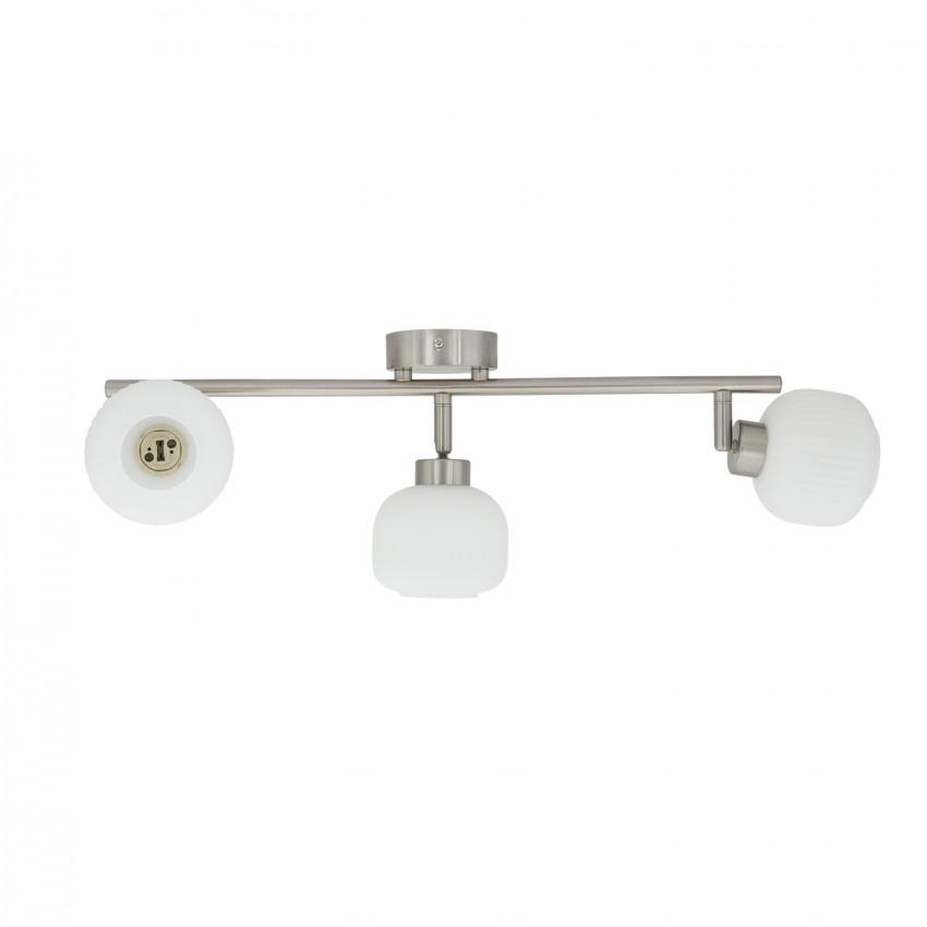 lampe de plafond orientable enna 3 spots blanc ledkia france. Black Bedroom Furniture Sets. Home Design Ideas