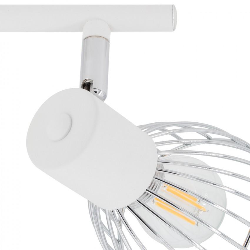 lampe de plafond lin aire orientable saban 3 spots blanc. Black Bedroom Furniture Sets. Home Design Ideas