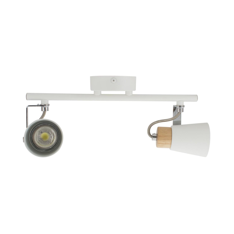 lampe de plafond orientable mara 2 spots blanc ledkia. Black Bedroom Furniture Sets. Home Design Ideas