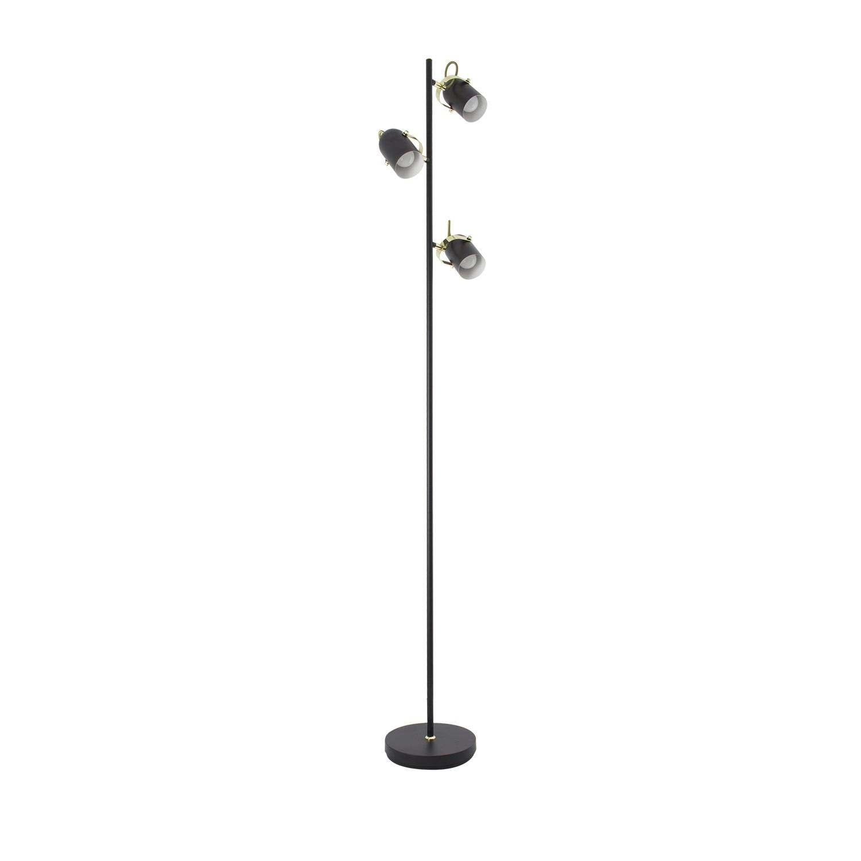 Lámpara de Pie Bani 3x Negro