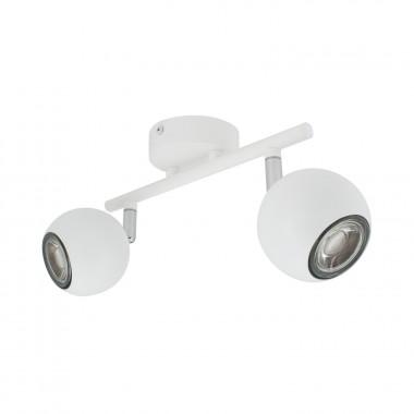 Lampe de Plafond Orientable Ates 2 Spots Blanc