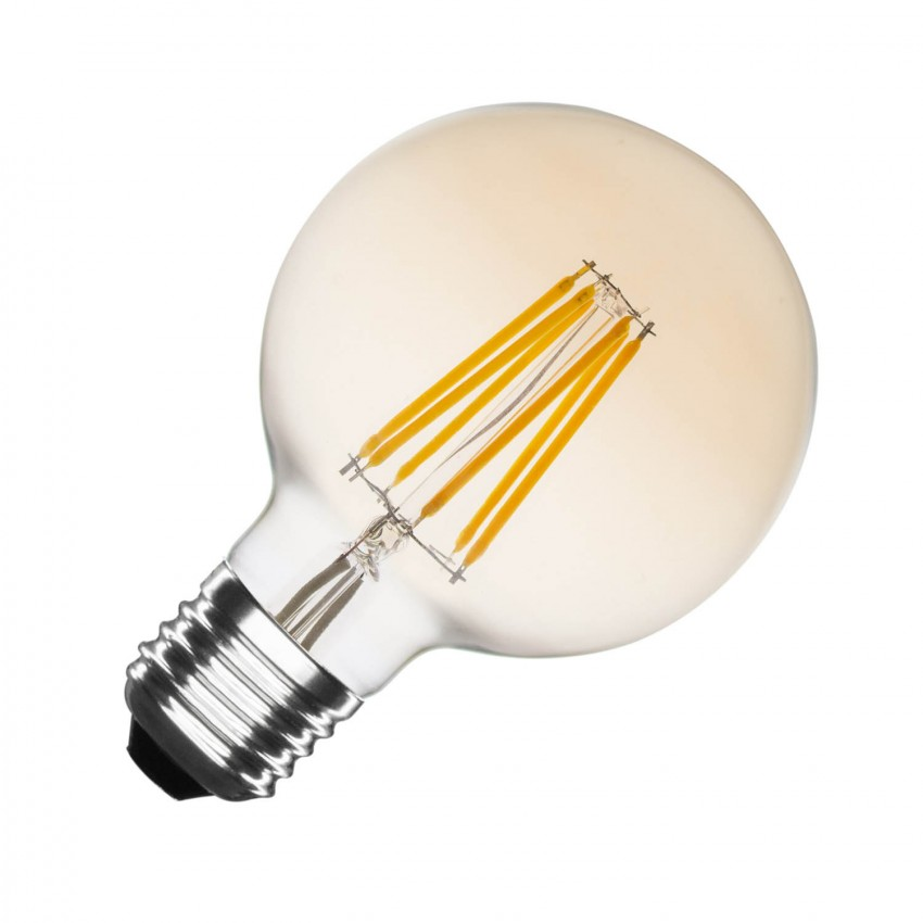 Ampoule LED E27 Dimmable Filament Gold Planet G95 6W