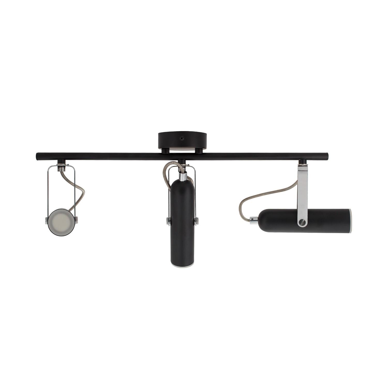 Foco LED Orientable Quvu 3x4W Negro
