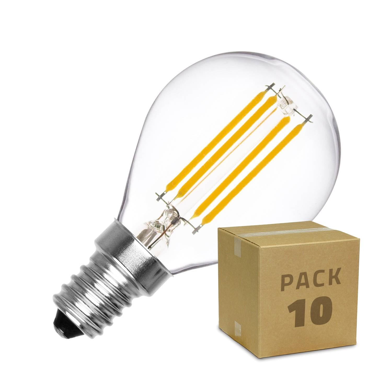 pack ampoule led e14 dimmable filament sph re g45 3w 10 un ledkia. Black Bedroom Furniture Sets. Home Design Ideas