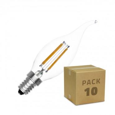 C35 Un Ampoule Led 4w10 E14 Dimmable Filament Pack Murano 08vmwNnO