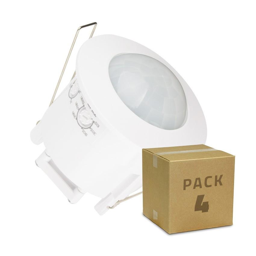 PACK Détecteur de Présence PIR 360º Encastrable (4 Un)