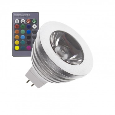 Incroyable Ampoule LED GU5.3 MR16 12V DC RGB 60º 3W - LEDKIA OY-16