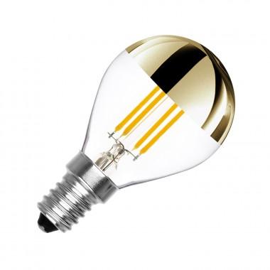 ampoule led e14 dimmable filament gold reflect g45 3 5w ledkia france. Black Bedroom Furniture Sets. Home Design Ideas
