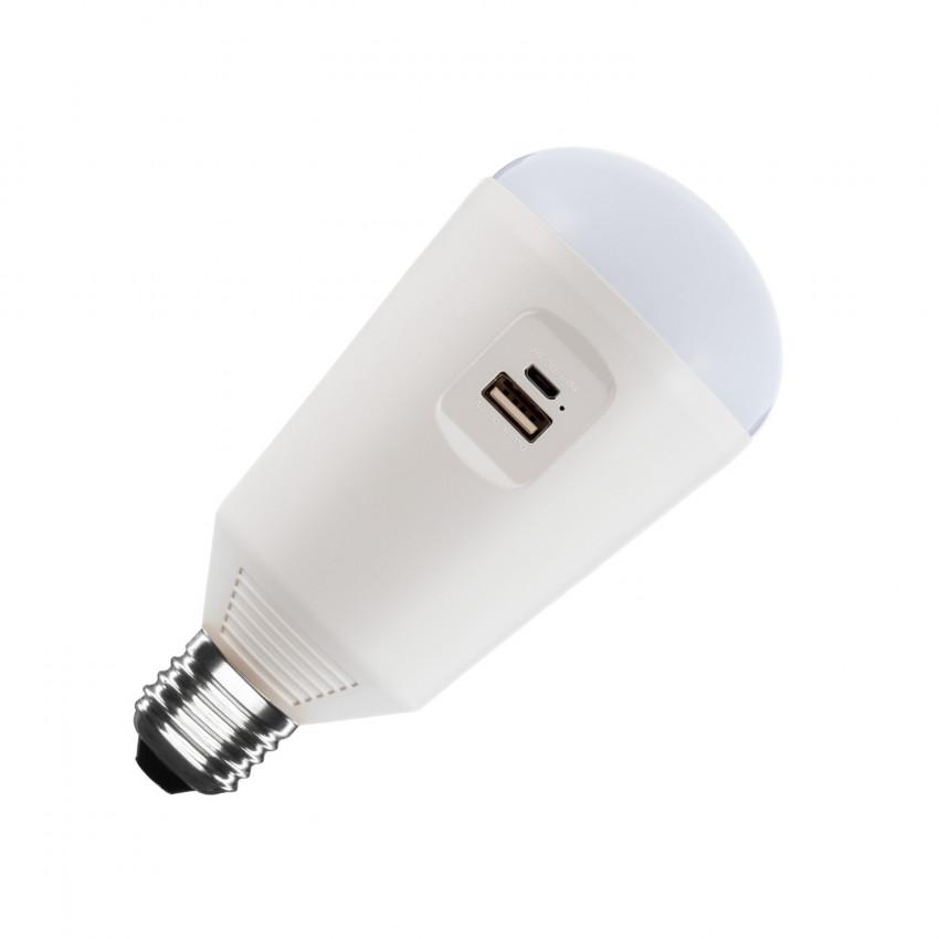 Bombilla LED Portátil con Cargador Solar 7W