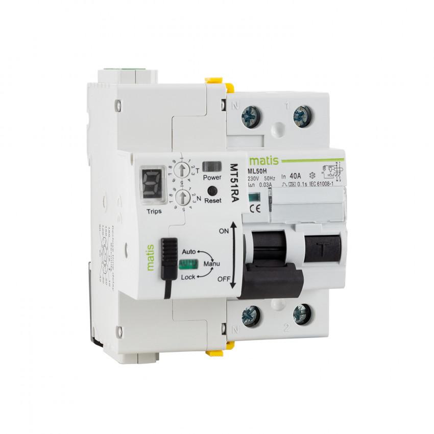 Interrupteur Diférenciel Réarmable Programmable MAXGE RS485 2P-40A-30mA-10kA
