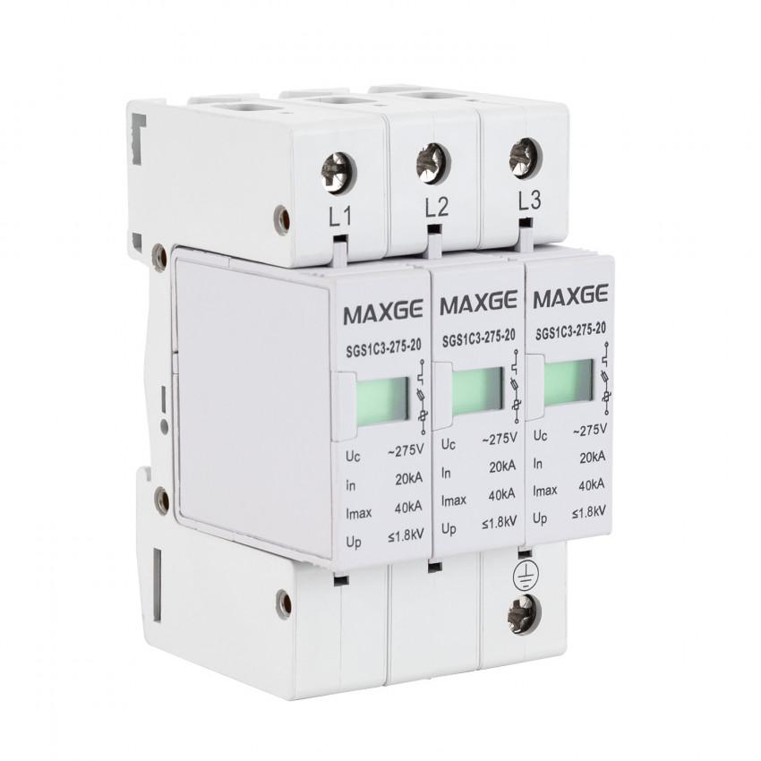 Parafoudre MAXGE 3P-Clase II-40kA-20kA-1,6kV