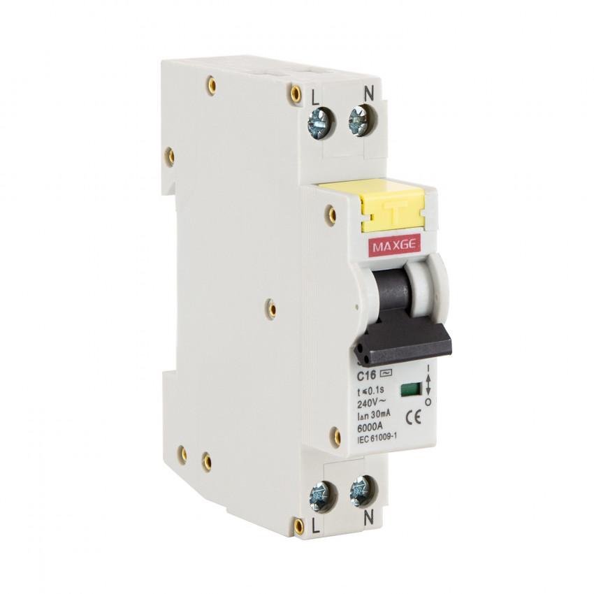 Interrupteur Combiné DPN (différentiel + disjoncteur) MAXGE 1P+N-6kA