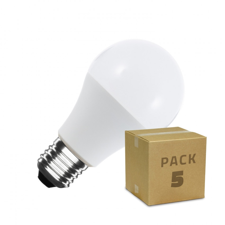Pack Ampoules LED E27 A60 9W (5 Un)