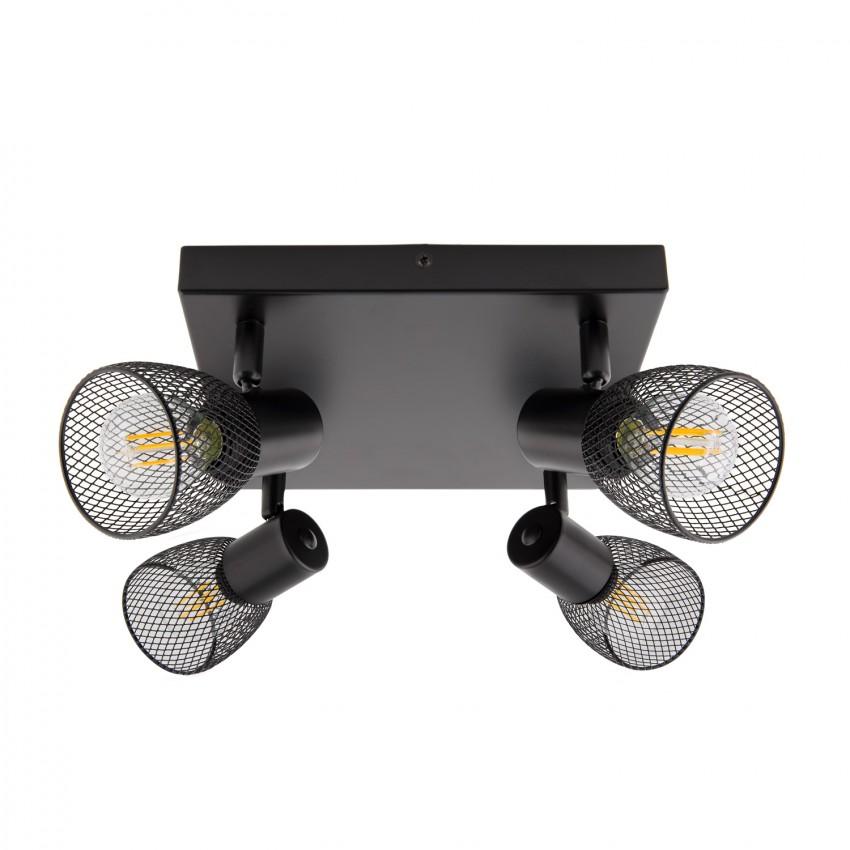 lampe de plafond orientable grid 4 spots noir ledkia france. Black Bedroom Furniture Sets. Home Design Ideas