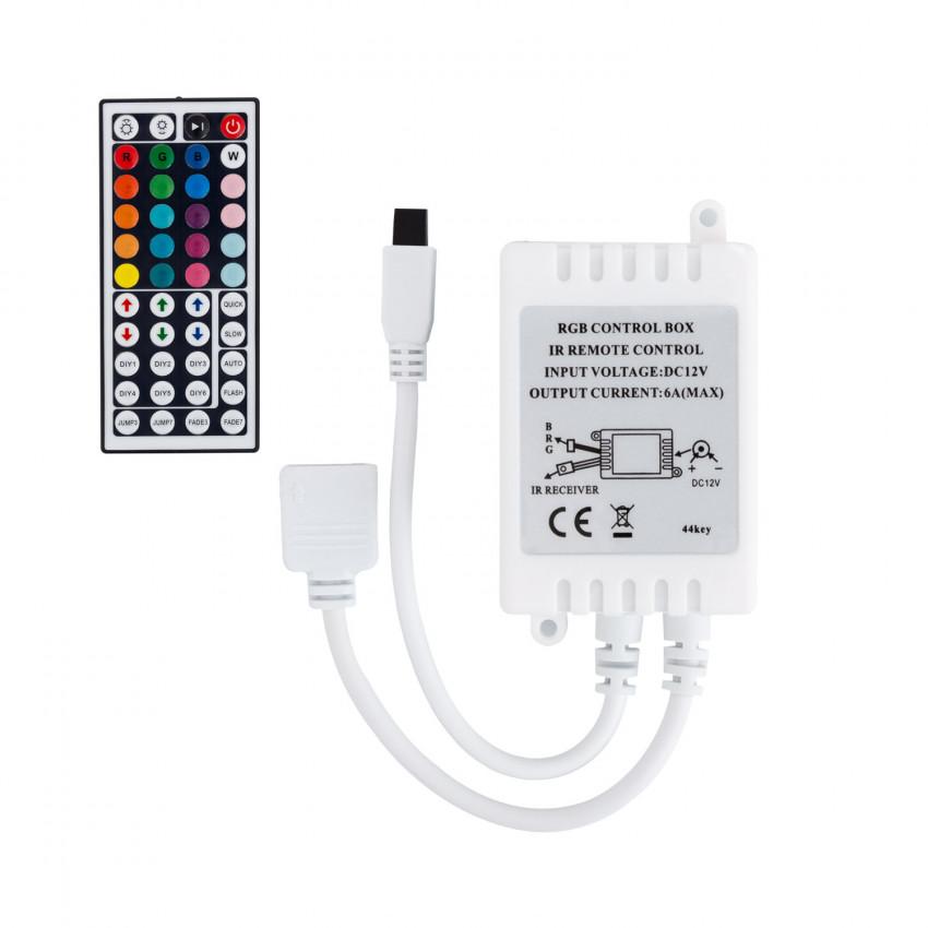 Contrôleur Ruban LED RGB 12V, Dimmable par Télécommande IR 44 Touches