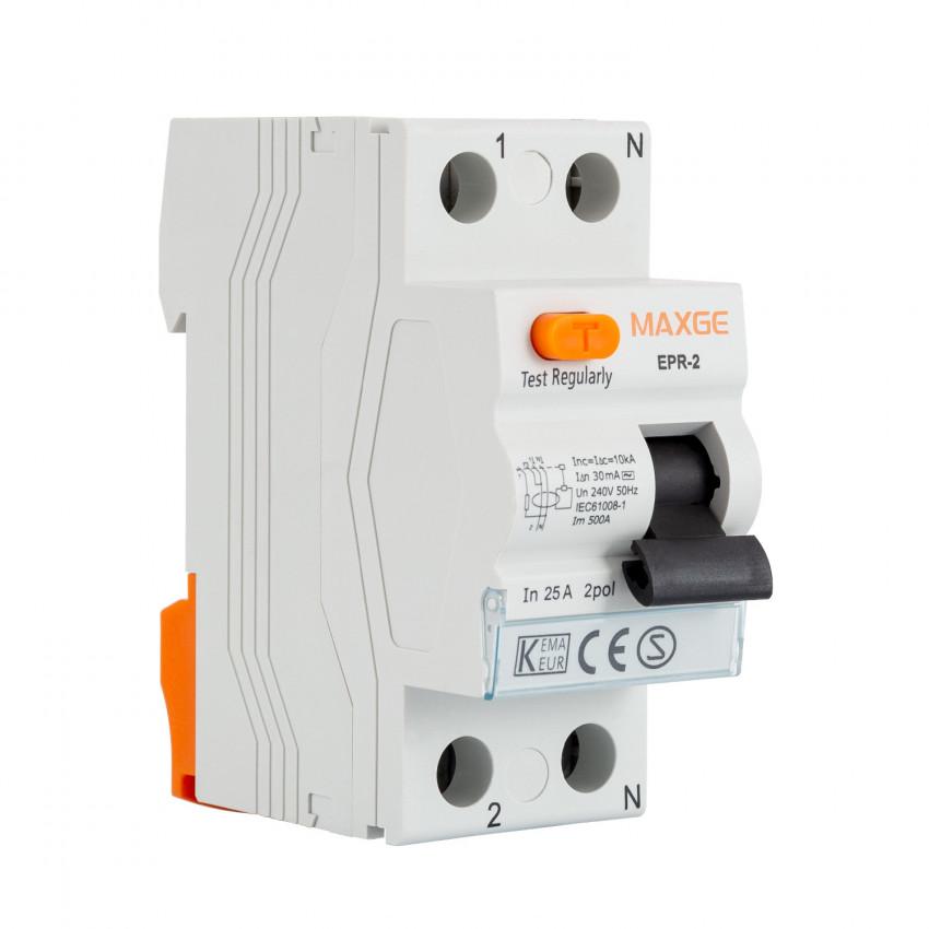 Interrupteur Différentiel Résidentiel MAXGE 2P-30mA-Clase AC-10kA