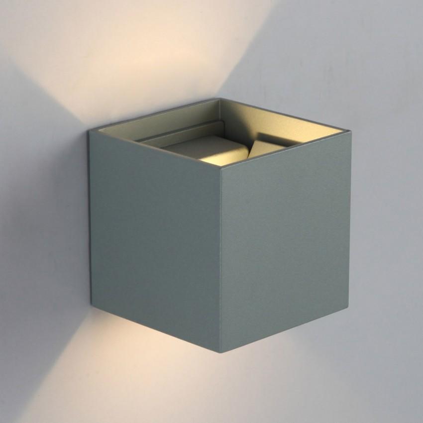 Applique LED Eros 6W Grise Éclairage Double Face