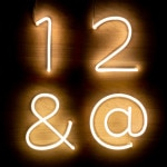 Numéros Néon LED