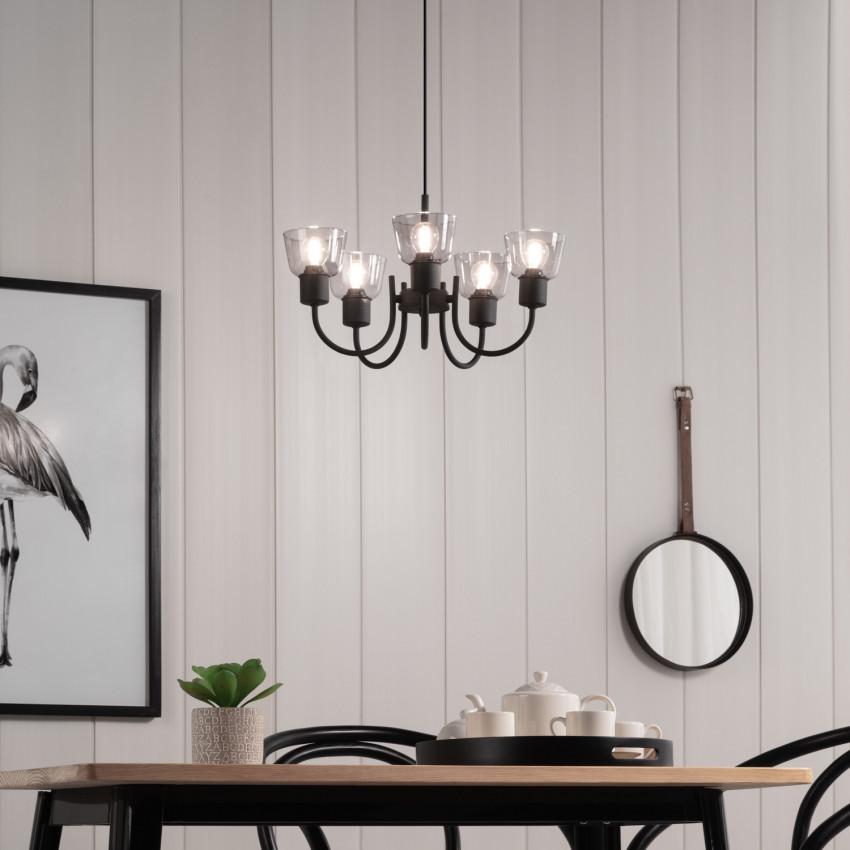 Lampe Suspendue Design Tivo 5 Spots Noir