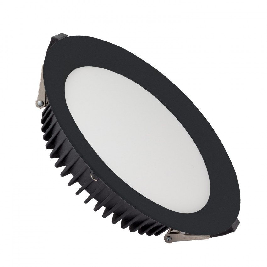 Downlight LED SAMSUNG New Aero 24W UGR19 Noir 4000K LIFUD Coupe Ø 185 mm