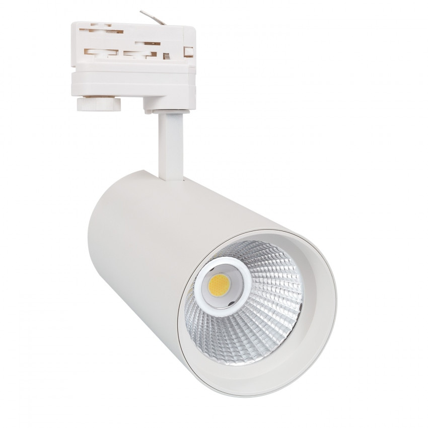 Spot LED New d'Angelo 30W  Blanc LIFUD pour Rail Triphasé (3 Allumages)