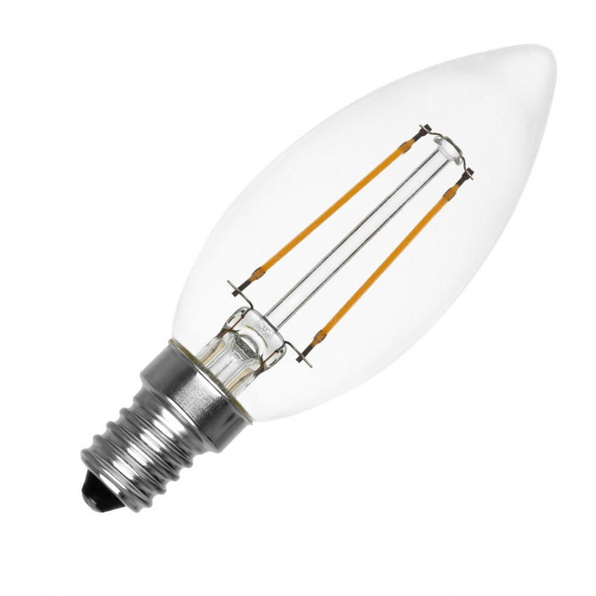 Ampoule LED E14 Filament PHILIPS Candle 2W