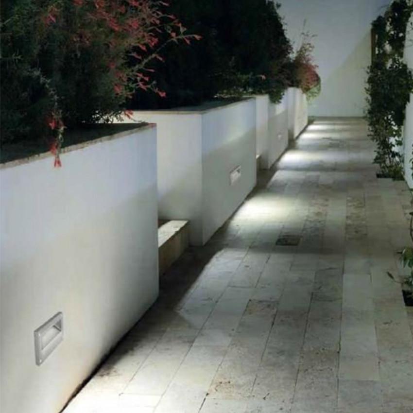 Balise Murale LED Encastrable Micenas 5.5W IP66 Gris Urbain LEDS-C4 05-9832-Z5-CM