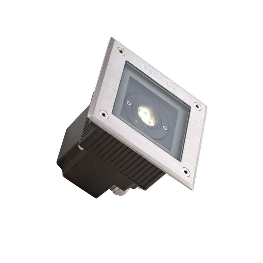 Spot LED Carré Encastrable au Sol Gea Power Led 6W IP67 LEDS-C4 55-9723-CA-CL